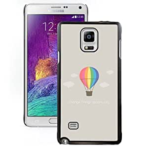 DIY and Fashionable Cell Phone Case Design with Flat Minimal Hot Air Balloon Illustration Galaxy Note 4 Wallpaper