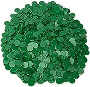 Solid Green Bingo Chips, 1000-pack