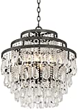 Cheap Beloit 20″ Wide Clear Crystal 4-Light Chandelier