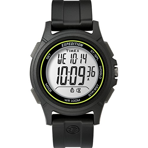 Timex Men's TW4B12100 Expedition Baseline Digital CAT Black/Green Resin Watch