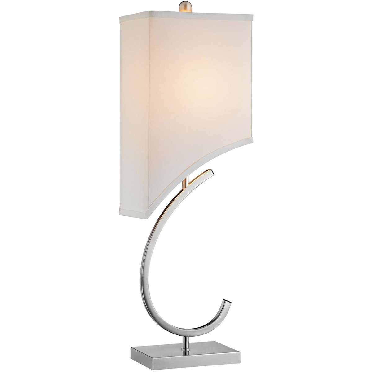 Table Lamp in White and Silver