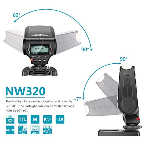 Neewer NW320 Mini TTL Speedlite Flash Automatic Flash Compatible with Sony MI Hot Shoe DSLR and Mirrorless Cameras A6000 A6300 A6500 A7 A7II A7RII A7RIII A7III NEX6 A7SII A7R A7S