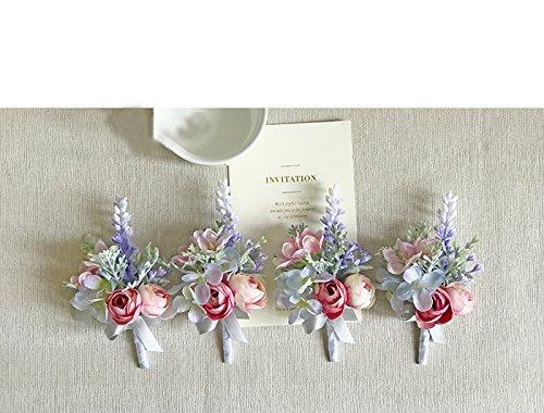 Yokoke-Artificial-Succulent-Boutonniere-Bouquet-Corsage-Wristlet-Vintage-Silk-Fake-Pink-Rose-Peony-Unicorn-Color-Flowers-Flocked-Plants-For-Groom-Bride-Wedding-Decor-1-Pc-corsage-A