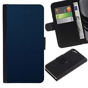 JackGot ( Struttura blu ) Apple iPhone 5 / iPhone 5S la tarjeta de Crédito Slots PU Funda de cuero Monedero caso cubierta de piel