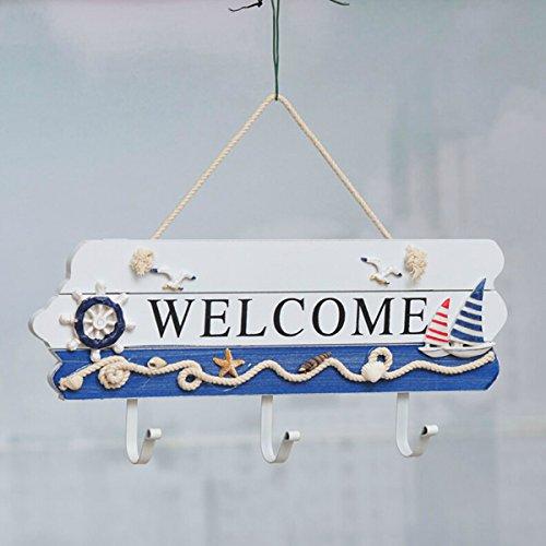 Mediterranean Style Wooden Decoration Welcome Doorplate