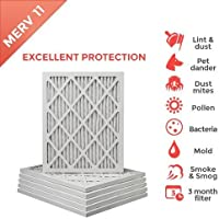 14x25x1 MERV 11 ( MPR 1000 ) Air Filters for AC and Furnace. Qty 6