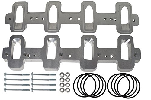 (LS1 Cathedral Port Cylinder Head to LS3 LSA ZL1 Supercharger Adapters Rectangle LSX 551316)
