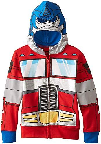 Transformers Big Boys' Optimus Prime Character Hoodie, Reds,