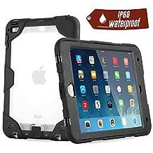 iPad Mini 4 Waterproof Case, Easylife IP68 Certified Snowproof Shockproof Dirtproof Case and Cover for iPad Mini 4, Black