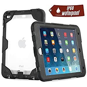 Easylife iPad Mini 4 Waterproof Case, IP68 Certified Snowproof Shockproof Dirtproof Case and Cover for iPad Mini 4, Black