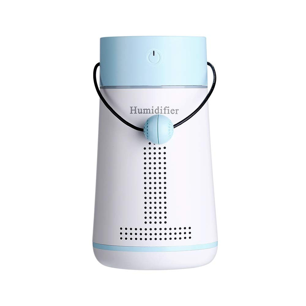 HYH USB Multifunction. Humidifier + Small Fan + Love Message Board + Makeup Mirror + LED Light. T1 Message Humidifier A Beautiful Life (Color : Blue)