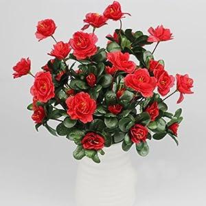 Vovomay Artificial Flower Artificial Bouquet Simulation Of Azalea Safflower Home Wedding Decoration (red) 105