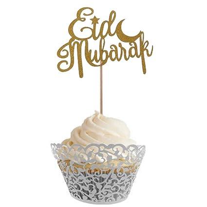 Chenguld Eid Mubarak Cake Topper Mariage Bébé Douche