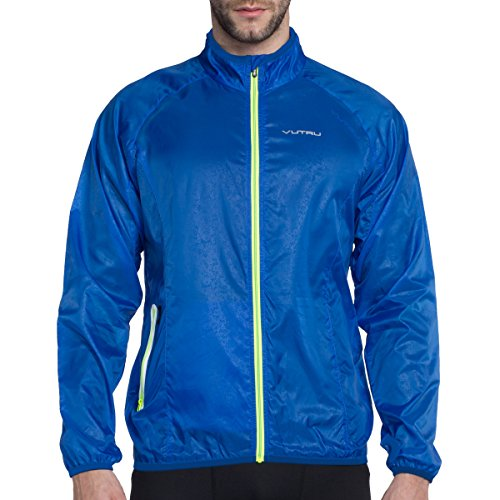 (VUTRU Men's Running Jacket Lightweight Windbreaker Breathable Packable Skin Coat Wind Jacket)
