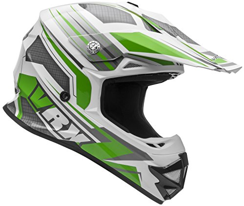 Vega Helmets VRX Advanced Off Road Motocross Dirt Bike Helmet (Green Venom Graphic, Large) ()
