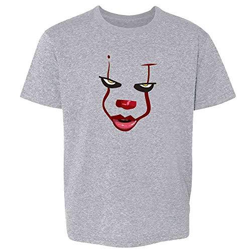 Pop Threads Clown Face Horror Halloween Scary Sport Grey S Youth Kids T-Shirt -