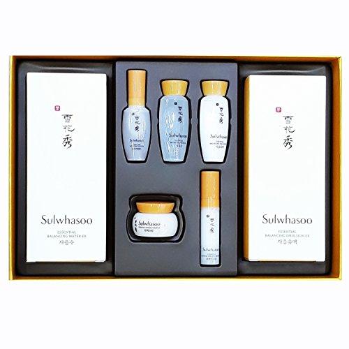 Sulwhasoo Essential Duo Set ( Essential Balancing Water 4.23 Oz125Ml  Essential Balancing Emulsion 4.23Oz125Ml  5 Travel Kit )