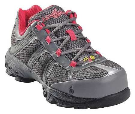 Athletic Style Work Shoes, Wmn, 8M, Gray, PR