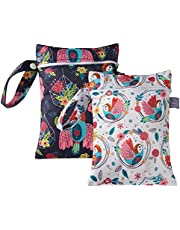 Baby Cloth Diaper Wet Bag Waterproof Organizer with Two Zippered Pockets