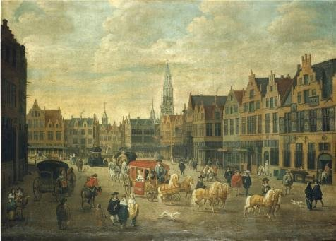 The Perfect Effect Canvas Of Oil Painting 'Erasmus De Bie - Meir In Antwerp,17th Century' ,size: 30x42 Inch / 76x106 Cm ,this Best Price Art Decorative Canvas Prints Is Fit For Powder Room Artwork And Home Decor And Gifts