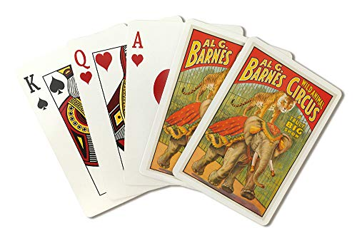 USA - Al G Barnes Circus - Vintage Advertisement (Playing Card Deck - 52 Card Poker Size with Jokers)