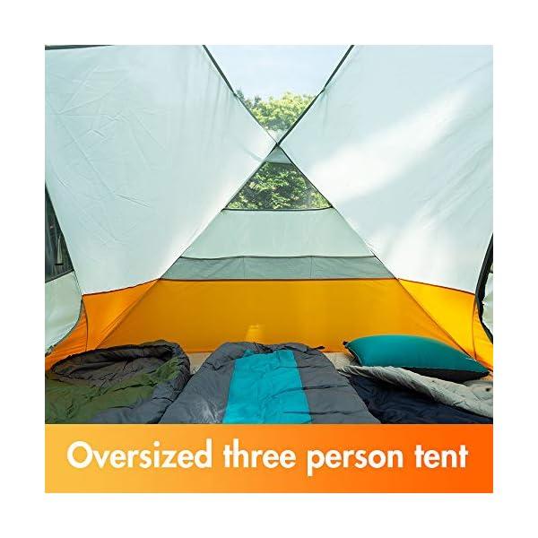 51 nhLH%2B mL Bessport Camping Zelt 3 Personen Ultraleichte Zelt Wasserdicht 3-6 Saison Zwei Türen Sofortiges Aufstellen für Trekking…