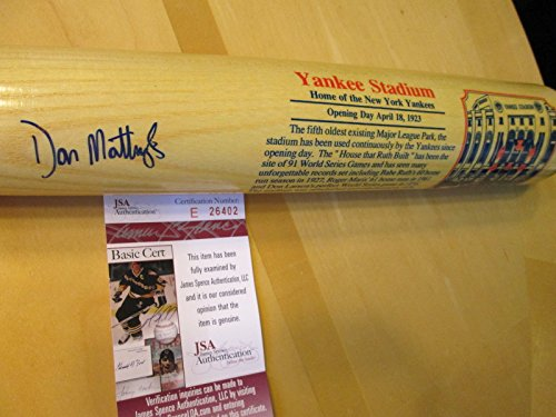 imited Edition (#352 of 1,000) Bat Signed by Don Mattingly-JSA Authenticated (Don Mattingly Signed Bat)