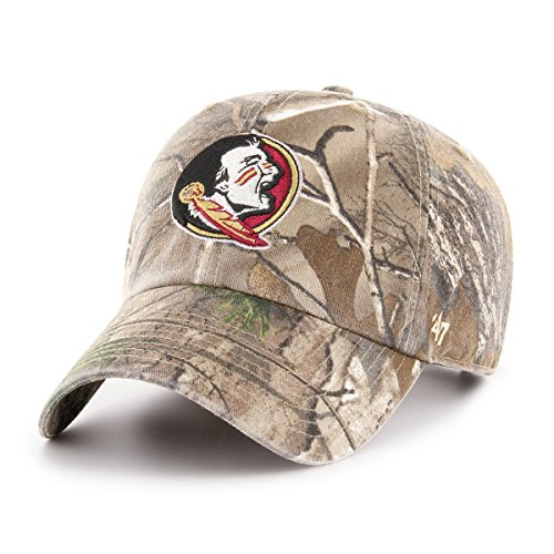 '47 NCAA Florida State Seminoles Adult Clean Up Realtree Adjustable Hat, One Size, Realtree Camo (Realtree Camo Hat Adjustable)