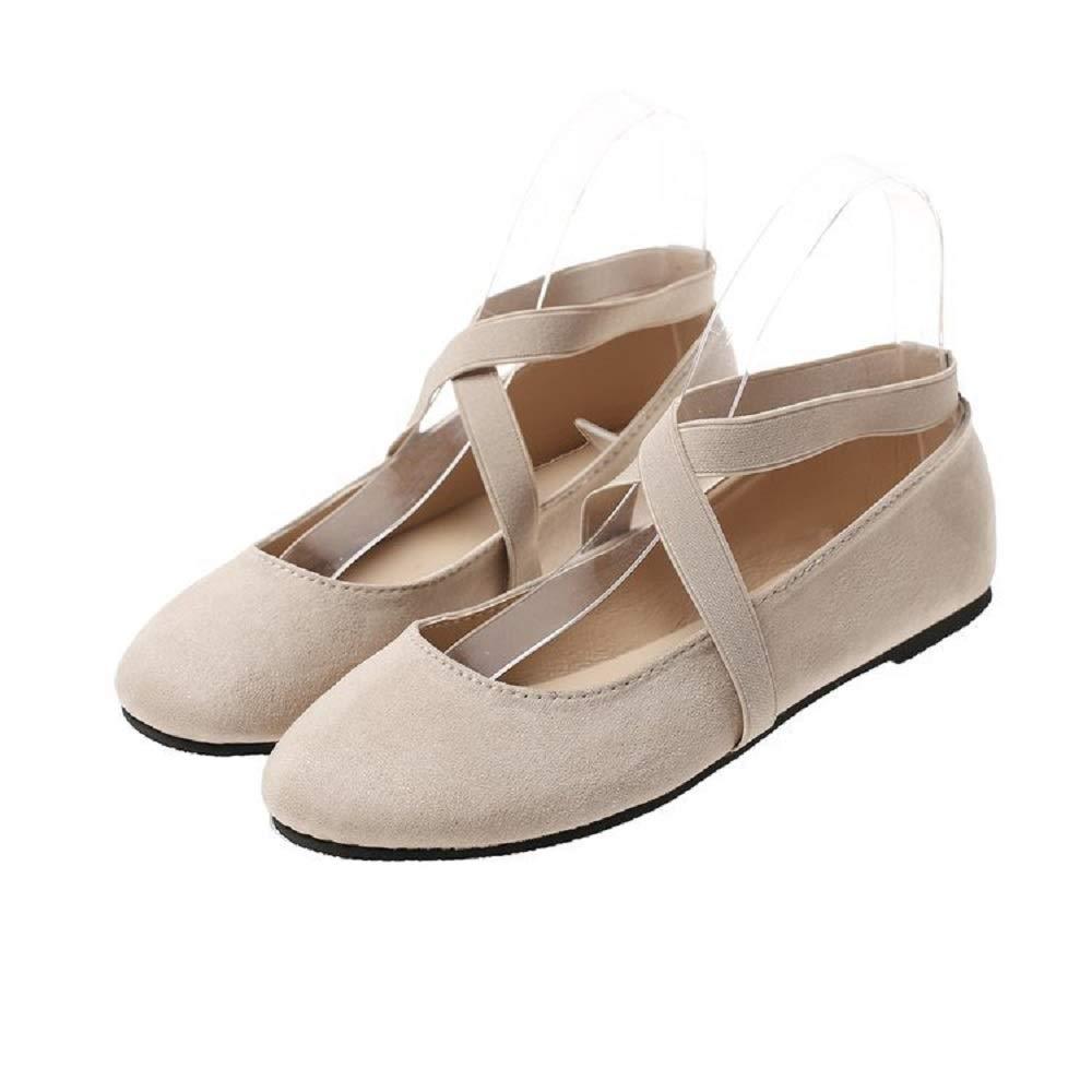 Qiusa Strappy Ballet Flats Taille Femme Chaussures Comfort Slip on : Comfort (coloré : Kaki, Taille : EU 37) Kaki e03d383 - reprogrammed.space