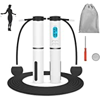 SlowTon Jump Rope, Weighted Counting Jump Rope, Adjustable Weight Time Rotations Skipping Rope With Calorie Counter…