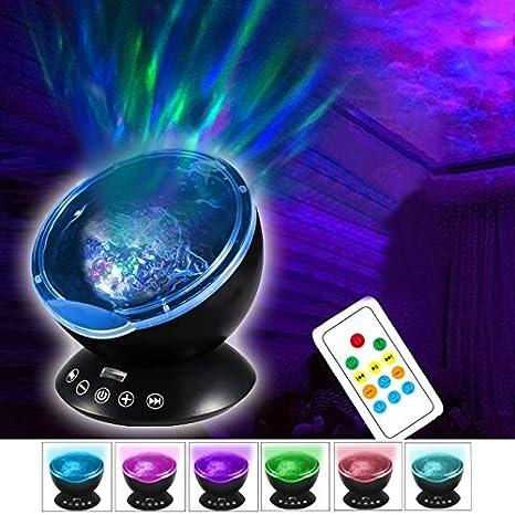 Iluminación Proyector de hipnosis USB de 2W 12 LED Luz ...