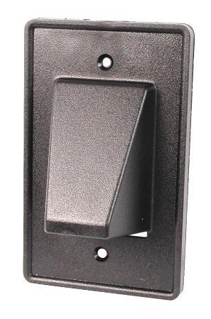 Black Reversable Single Gang Hooded Plate With Headphones (Arlington Jack)