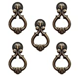 2 1 2 inch brass drawer pulls - B0040B Furniture Pull Knob with Drawer Ring, Antique style, 2