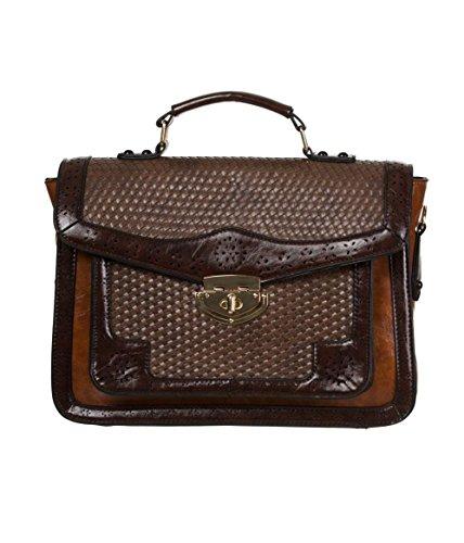 Banned Apparel 'Honky Tonky' Vintage Faux Leather Satchel Shoulder Bag Camel