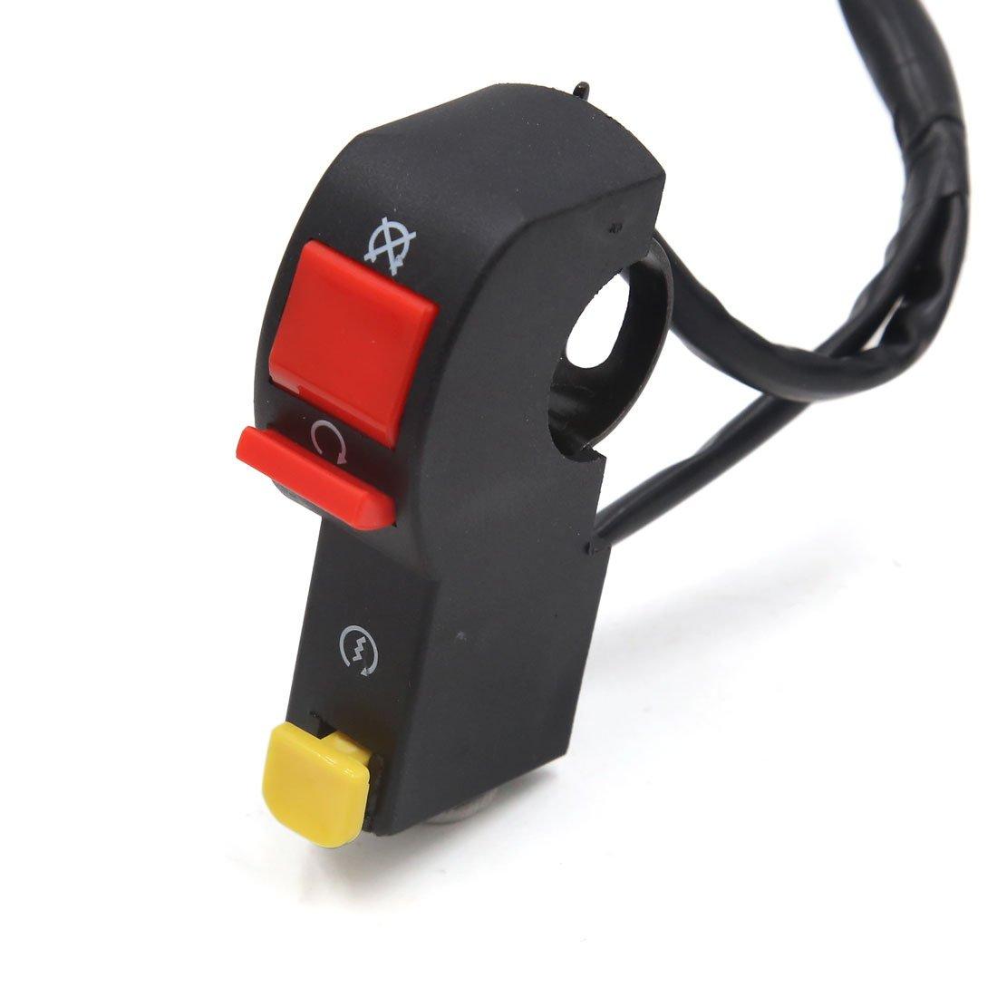 Sourcingmap Moto Scooter 7//8 Interruptor del Manillar del Motor de Arranque El/éctrico Claxon Horn Bocina Faro