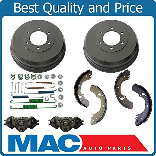 Mac Auto Parts 143908 Rear Brake Drum Drums Shoes Spring Kit Wheel Cylinder Fits Passport Rodeo (Rodeo Rear Brake Drum)