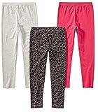 Spotted Zebra Girls' Toddler Leggings, 3-Pack Glam