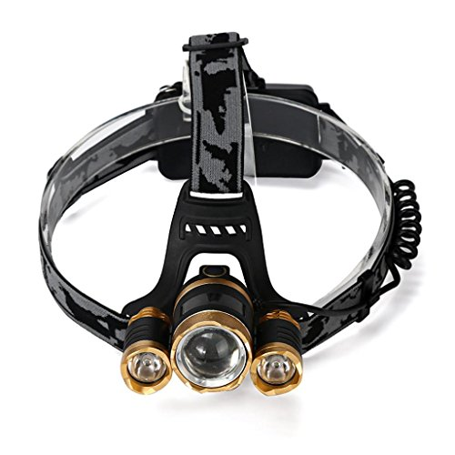Headlamp Odeer 15000 Lumens CREE LED Headlamp Torch Cree 3x XM-L T6 Headlamp Head Light Lamp Waterproofing (Material: Alloy + ABS)