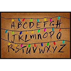 40x50 Blanket Comfort Warmth Soft Plush Throw for Couch Christmas Lights Alphabet From Stranger Things
