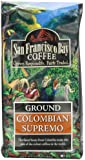 San Francisco Bay Coffee Ground, Colombian Supremo, 12 Ounce