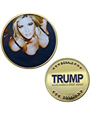 Commercial Souvenirs from The US 2016 Ivanka Trump Gilded Commemorative Coin Capsule and Gold Coin Collection