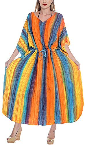 Donne Vestiti Kimono I Tie Leela Vestito Loungewear F Caftano Libero Partito La Giorni Vacanze Pigiama Di Rayon Formato Spiaggia Kaftan Maxi Per Coprire Turchese Tunica Dye Lungo l253 Tutti KlFJcT31