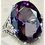 Women fashion jewelry 925 silver Amethyst zircon wedding ring size 6-10#by pimchanok shop (10)