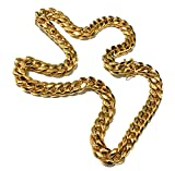 Miami Cuban Link 14K Chain 14MM, Real Solid Heavy Premium Gold Overlay Jewelry Pendant Necklace 30 inch