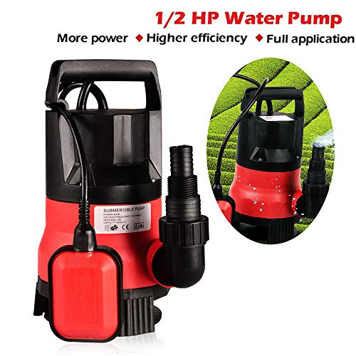 - Sump Pump 1/2 HP Submersible Pumps Portable Transfer Water Pump Electric Flood Drain Garden Pond Swimming Pool Pump (US STOCK)