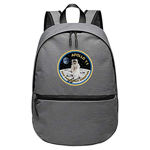 - Apollo 11 50th Anniversary Expedition NASA Unisex Classic Backpack Student Funny Printing Bookbags Adults Children Teenagers Fashion Daypack Gray