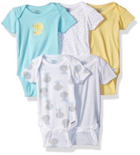 Gerber Baby Girls' 5-Pack Variety Onesies Bodysuits, New Duck, Newborn ()