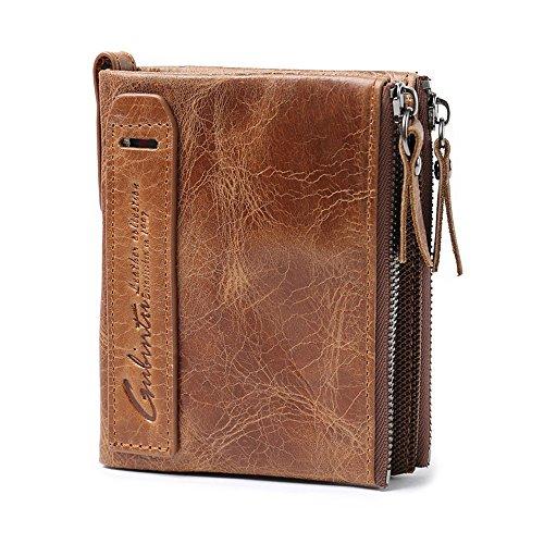 VRLEGEND Men's ID Wallet Bilfold Wallet Vintage Style