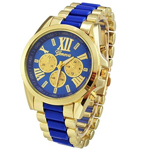 Loveje automatic Full Steel Alloy Quartz glass dial window Wrist Watch hiphop gold jewelry for men Wrist - Watch Fancy Band Mens