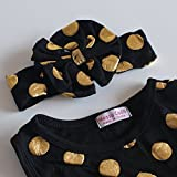 Messy Code Baby Romper Onesies Girls Clothes Gold